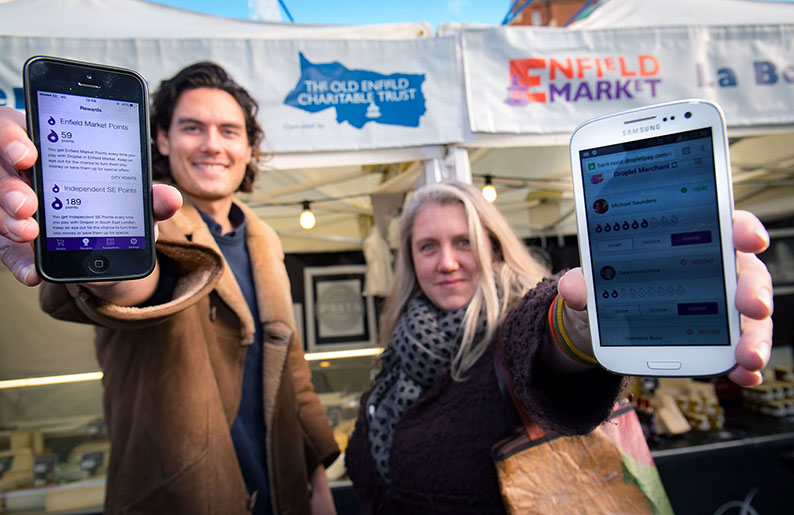 Mikey Saunders (Droplet) with Ellie Gill (Love your Local Market)