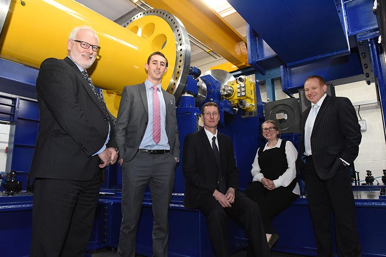 (l-r) Nick Mallinson (Warwick Manufacturing Group, Adam Titchen (EEF), Neil Wyke (Georg UK), Lucy Prior (Rail Alliance) and David Atkinson (Lloyds Bank)