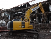 Demolition work being carried out on Wolverhampton's Mander Centre