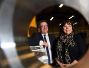 (l-r) Lorraine Holmes and Martin Coats (both Manufacturing Growth Programme)