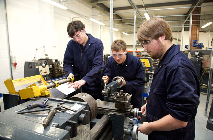 Young Apprentices working at ITAS