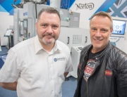Martin Doyle (ETG) with Stuart Garner (Norton Motorcycles) at the launch of the company's first Technical Academy