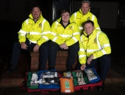 First Responders (L2) (l-r) Dave Fitton, Stuart Morgan-Williams, Derek Mattinson and Craig Jones