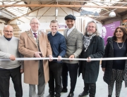 Iftikar Karim (Wood Saints), Deputy Mayor of Wolverhampton Phil Page, Dan Lodge (Wood Saints), Jay Blades (Jay & Co), Mick Moreton and Shobha Asar-Paul (both Wood Saints)