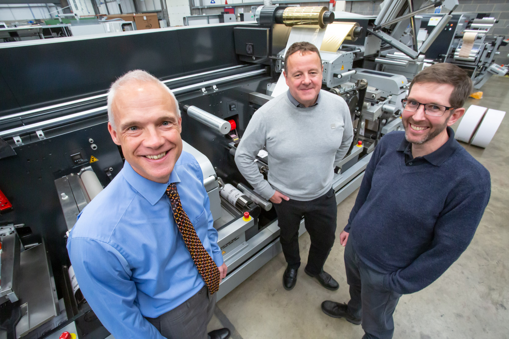 (l-r) Tony Hague (PP Control & Automation) with Phil Robson and Garth Williams (both ABG International)