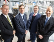 (l-r) Chris Oldfield (DCS Group), James Stansfield (Filtermist International), Philip Oldfield (DCS Group) and Ian Woodward (Filtermist International).