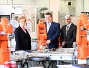 From the left, Carol Burke (Unipart Manufacturing Group), Carl Perrin (AME) and Zamurad Hussain (CWLEP)