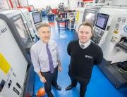 (l-r) Les Nuttall (Merc Aerospace) with John Brimblebcome (ETG)