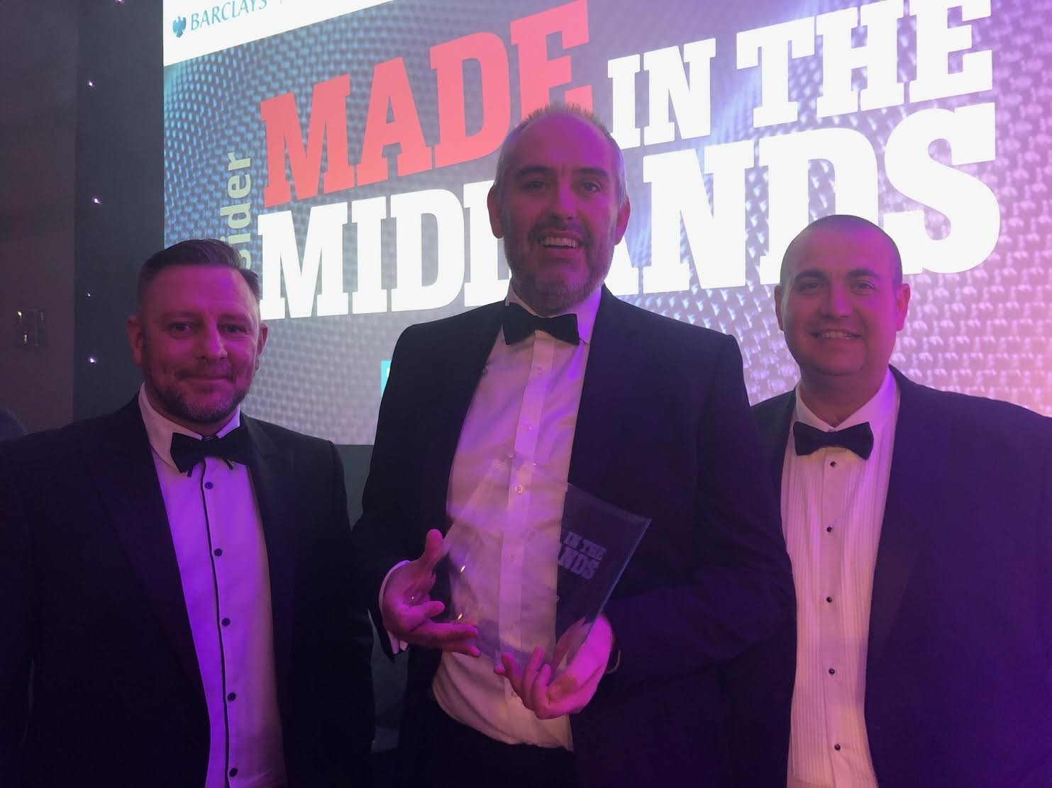 Brandauer at the Made in the Midlands Awards