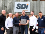 (l-r) Stuart Tilley (SDI), Glen Pawson, Nick Lovett (both M3), Ian Wright, Matt Evans and Ashley Parr (all SDI)