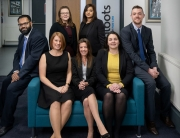 l-r back row) Sanjeev Sunder, Holly Elphick, Aneesah Sheikh and Joe Foley (l-r front row) Liz Hulland, Yvonne Masters and Claire Cooper
